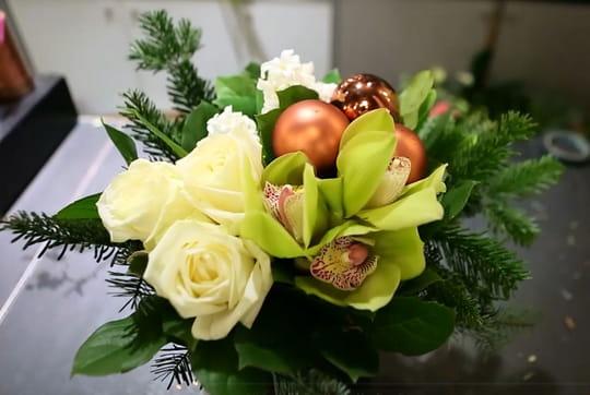 Diy un bouquet de no l blanc vert et cuivr journal for Bouquet de fleurs vert et blanc