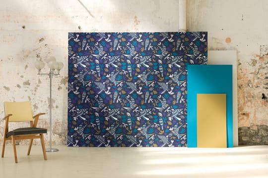 ressource dite ses premiers papiers peints avec forestine. Black Bedroom Furniture Sets. Home Design Ideas
