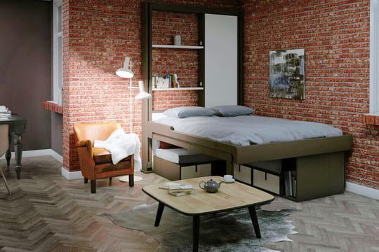 le lit escamotable la rescousse des petits espaces journal des femmes. Black Bedroom Furniture Sets. Home Design Ideas