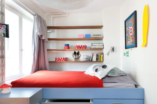 chambre d 39 enfant comment am nager un lit mezzanine journal des femmes. Black Bedroom Furniture Sets. Home Design Ideas