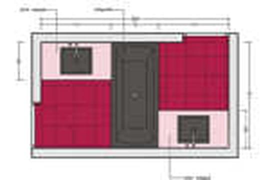 Immobilier plan de salle de bain 6m2 for Salle de bain 6m2 plan