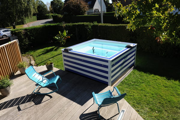 Coup de c ur la mini piscine color e doodoopool - Mini pool terrasse ...