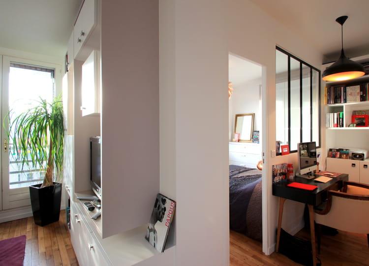 cr er une chambre de 7 m avant apr s une chambre sur mesure journal des femmes. Black Bedroom Furniture Sets. Home Design Ideas