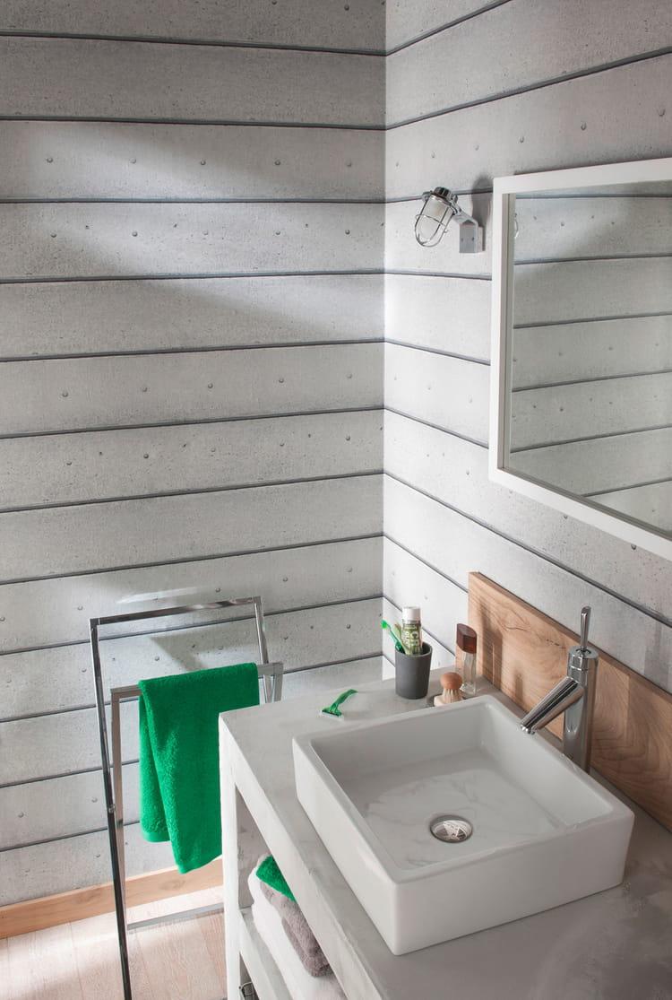 papier peint b ton line de castorama le papier peint motifs en met plein la vue journal. Black Bedroom Furniture Sets. Home Design Ideas