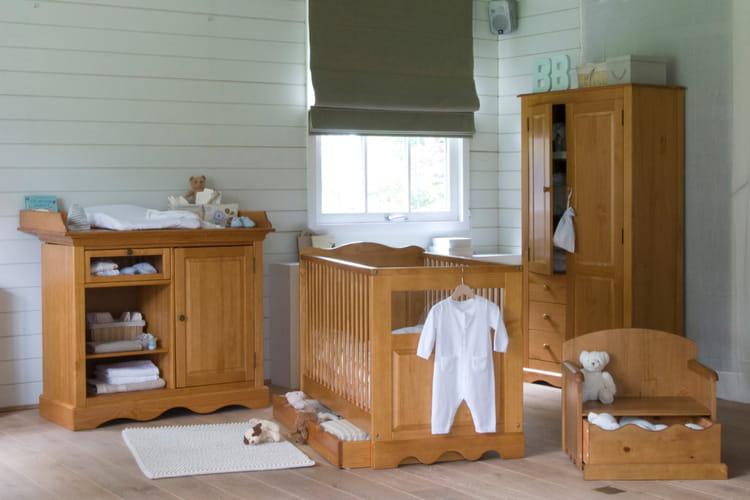 lit de b b en bois de la redoute. Black Bedroom Furniture Sets. Home Design Ideas