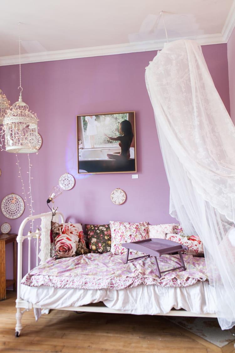 ciel de lit romantique le ciel de lit la touche. Black Bedroom Furniture Sets. Home Design Ideas