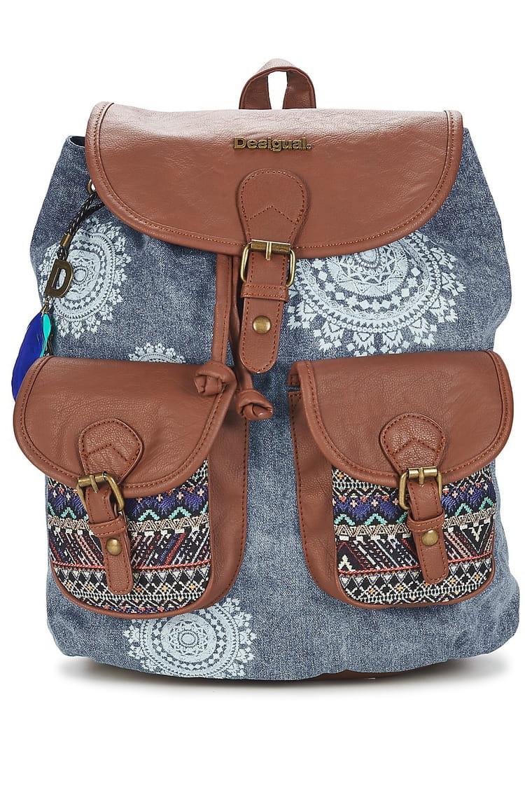 sac dos bleu dakar africain art de desigual oh qu 39 il est beau qu 39 il est beau le sac dos. Black Bedroom Furniture Sets. Home Design Ideas