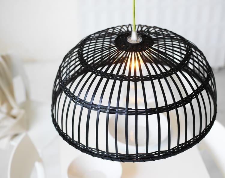 abat jour en bambou noir nipprig ikea. Black Bedroom Furniture Sets. Home Design Ideas