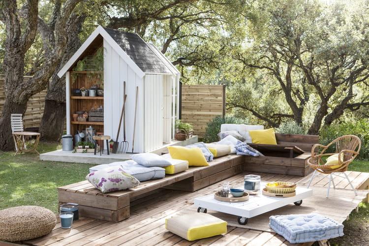 coussin de sol cl a de leroy merlin. Black Bedroom Furniture Sets. Home Design Ideas