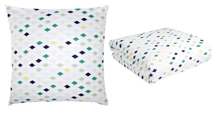 linge de lit flake d 39 habitat linge de lit a sent le printemps journal des femmes. Black Bedroom Furniture Sets. Home Design Ideas