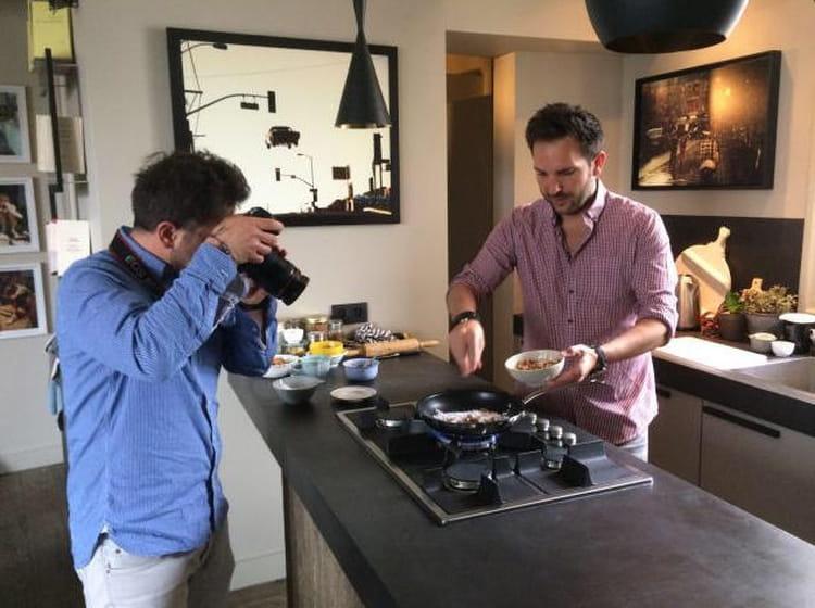 christophe michalak en pleine pr paration insta 39 chef le meilleur des coulisses des chefs. Black Bedroom Furniture Sets. Home Design Ideas