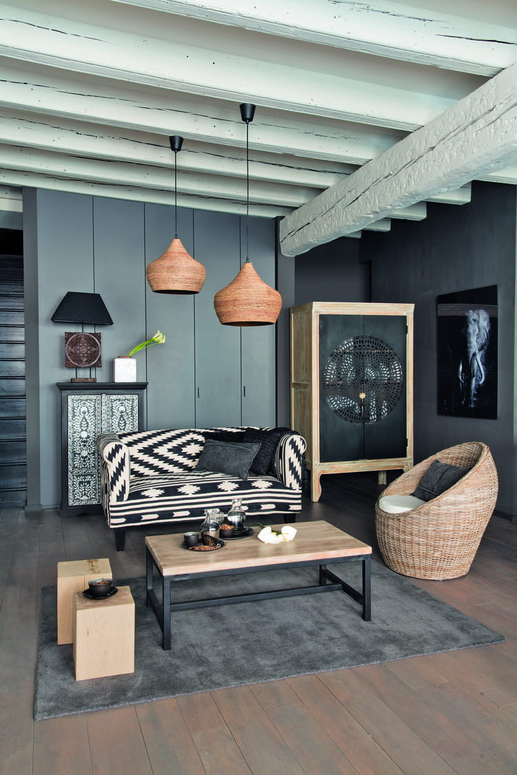 banquette tabriz de maisons du monde d co ethnique chic. Black Bedroom Furniture Sets. Home Design Ideas