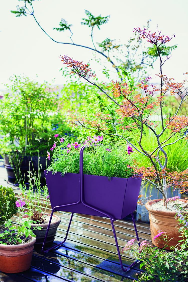 jardini res et pots une d coration printani re s 39 invite sur le balcon journal des femmes. Black Bedroom Furniture Sets. Home Design Ideas