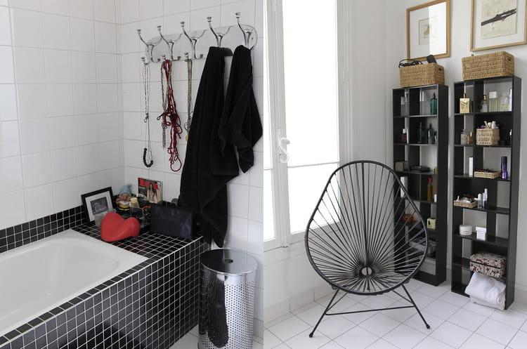 Salle de bain rouge noire et blanc salle de bain avec un - Salle de bain en rouge et blanc ...