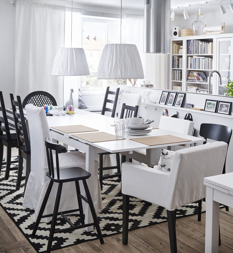Les chaises accoudoirs nils d 39 ikea la cuisine ikea - Chaises a accoudoirs ...