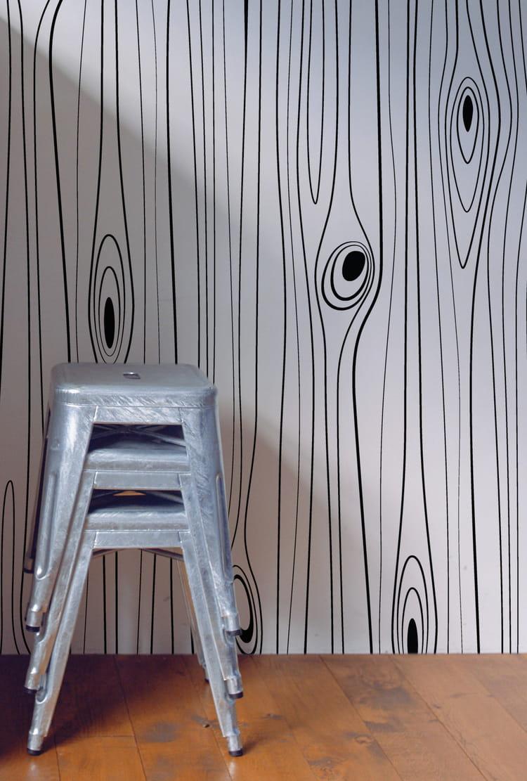 papier peint wood sur papier peint pour. Black Bedroom Furniture Sets. Home Design Ideas