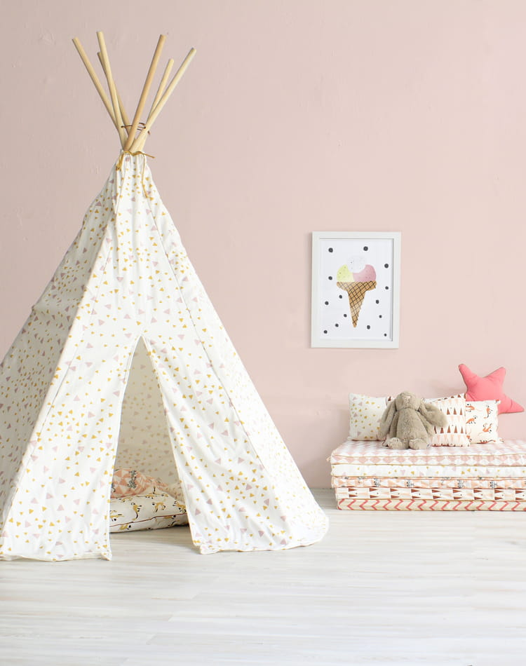 tipi pastel nobodinoz cabanes et tipis pour enfant. Black Bedroom Furniture Sets. Home Design Ideas