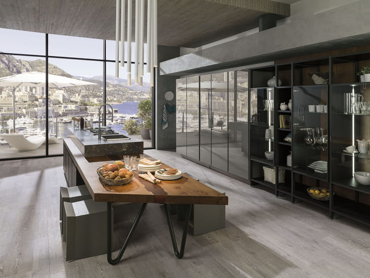 cuisine emotions de porcelanosa des cuisines modernes d. Black Bedroom Furniture Sets. Home Design Ideas