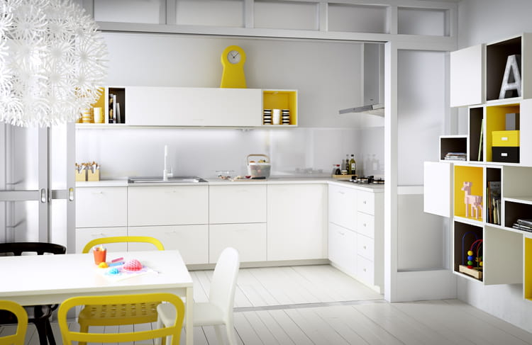 cuisine blanche laquee ikea avec des id es int ressantes pour la conception de la. Black Bedroom Furniture Sets. Home Design Ideas