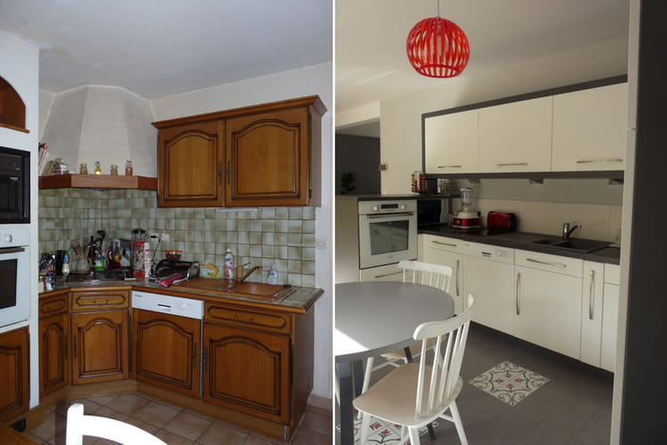d coration de cuisine avant apr s avant apr s coup de jeune sur une cuisine ouverte. Black Bedroom Furniture Sets. Home Design Ideas