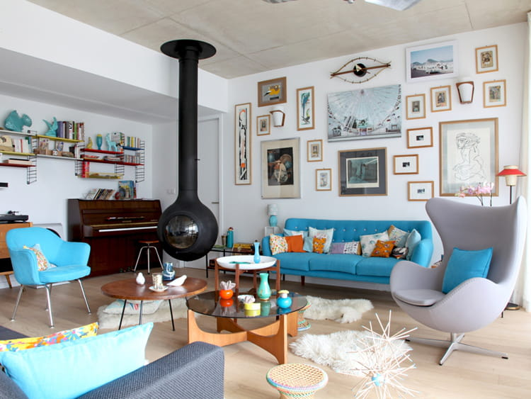 un canap turquoise bleu turquoise comment l 39 int grer. Black Bedroom Furniture Sets. Home Design Ideas