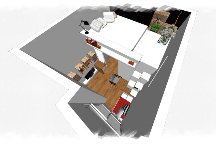 Le projet de denitsa hristova d fi petit espace am nager un mini studio a - Studio petit journal ...