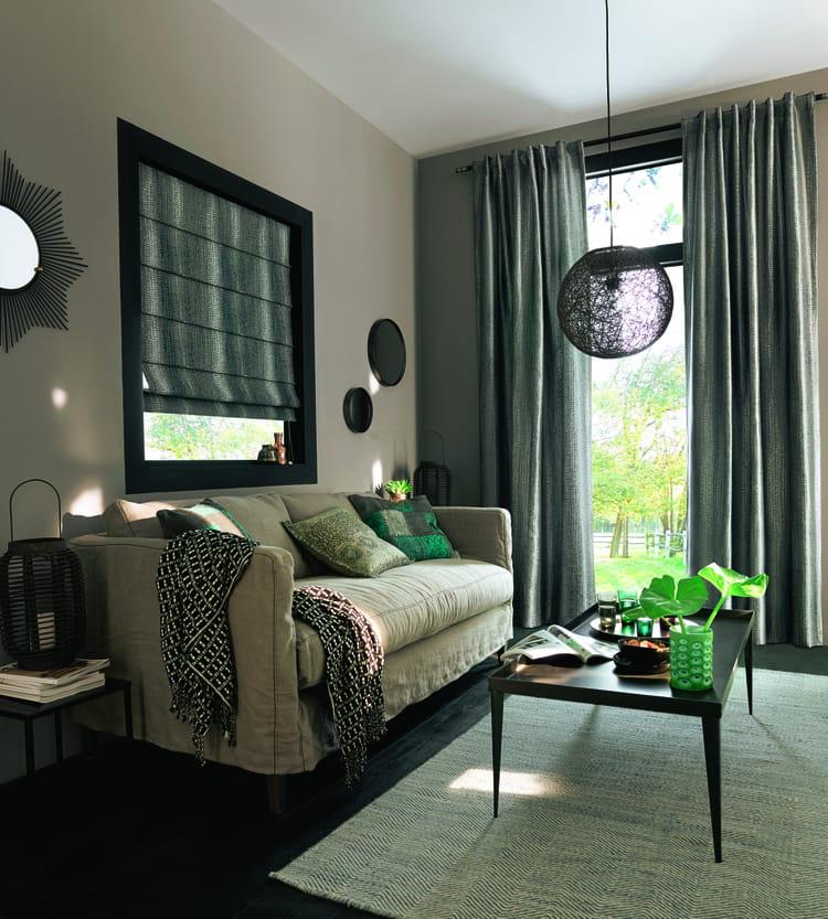 rideaux sendai chez saint maclou 10 rideaux cosy pour passer l hiver au chaud journal des. Black Bedroom Furniture Sets. Home Design Ideas