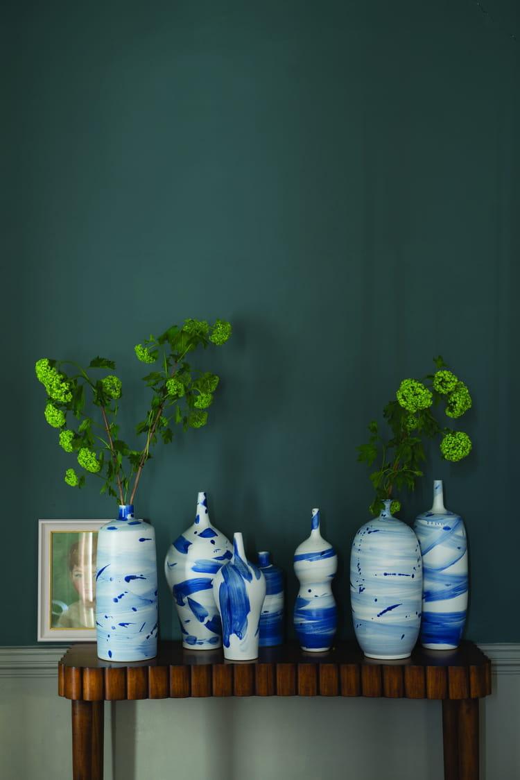 peinture inchyra blue par farrow ball peinture bleue et verte de l 39 exotisme sur nos murs. Black Bedroom Furniture Sets. Home Design Ideas