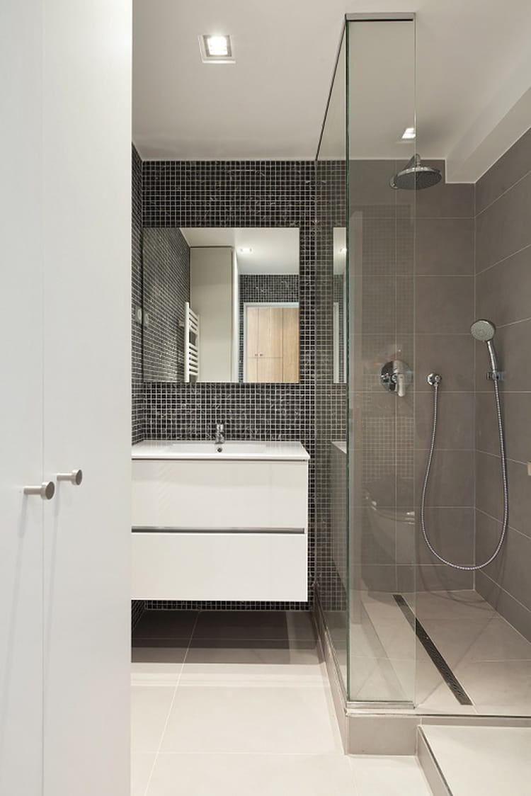 Petite salle de bains avec douche l 39 italienne salle de for Idee salle de bain douche