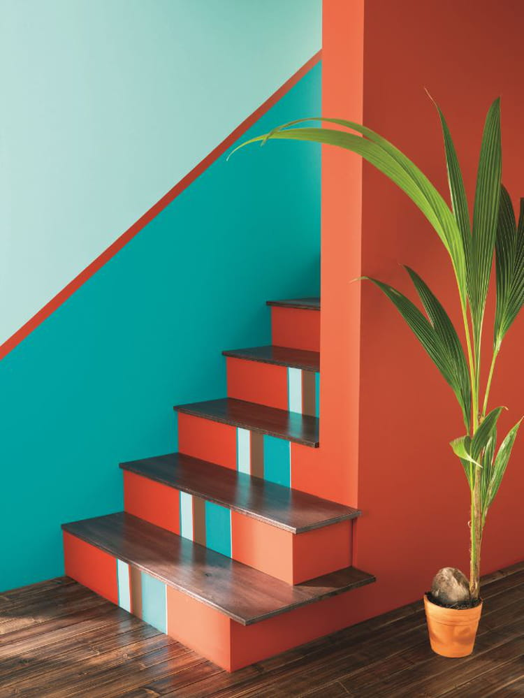 peinture bleu lagon par v33 peinture bleue et verte de l 39 exotisme sur nos murs journal des. Black Bedroom Furniture Sets. Home Design Ideas