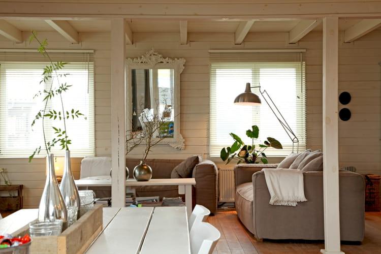 Teintes douces et claires salon beige comment - Deco salon gris et beige ...