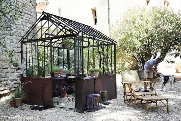 Abri de jardin serre tuileries par maisons du monde - Demi serre de jardin ...