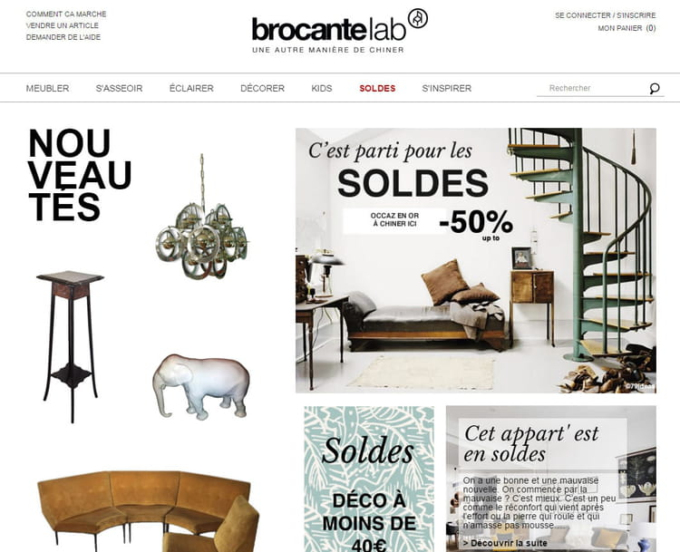brocante en ligne je chine depuis mon canap journal des femmes. Black Bedroom Furniture Sets. Home Design Ideas