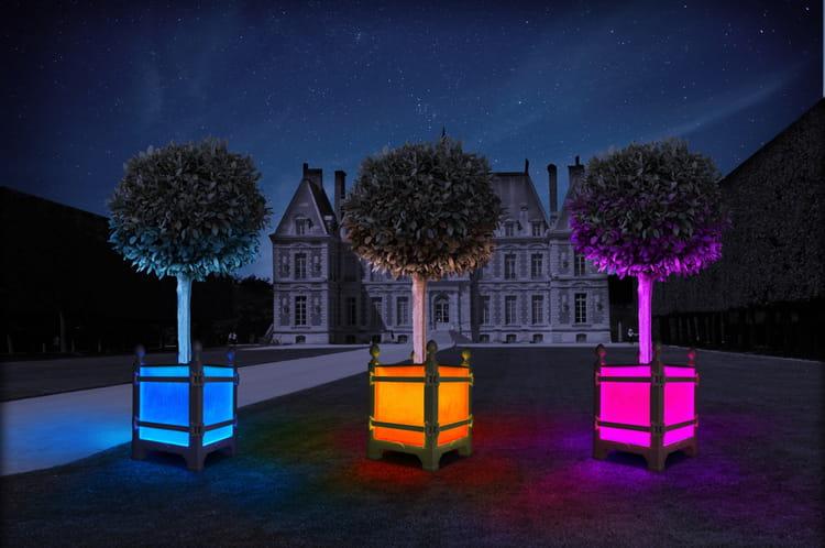 caisse oranger lumineuse alcine par les jardins du roi soleil. Black Bedroom Furniture Sets. Home Design Ideas