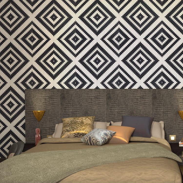 un papier peint ethnique chic quel papier peint pour ma chambre journal des femmes. Black Bedroom Furniture Sets. Home Design Ideas