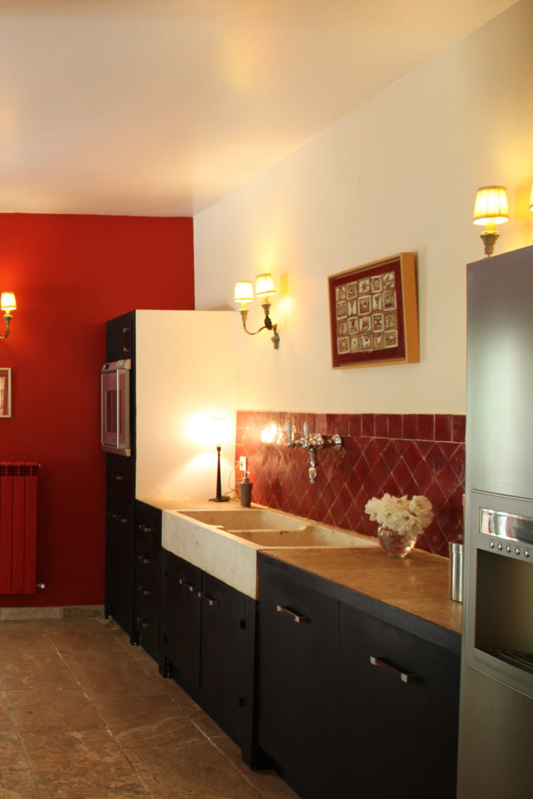 Cr dence rouge - Credence cuisine rouge ...