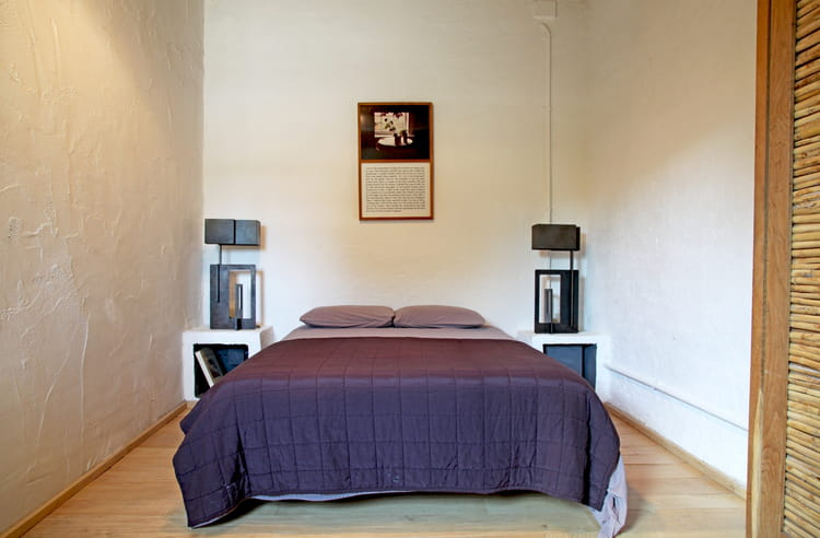 chambre en noir et blanc. Black Bedroom Furniture Sets. Home Design Ideas