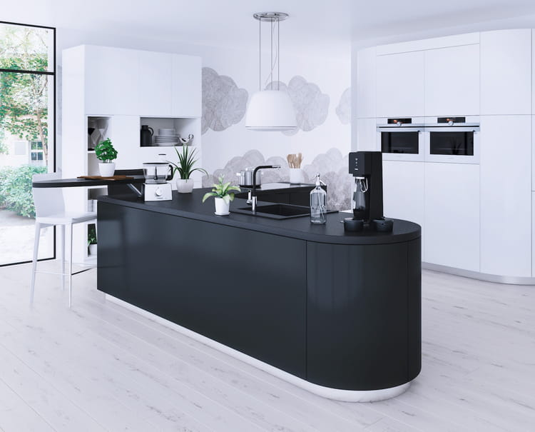 L 39 lot de cuisine moderne for Amenagement cuisine ilot central