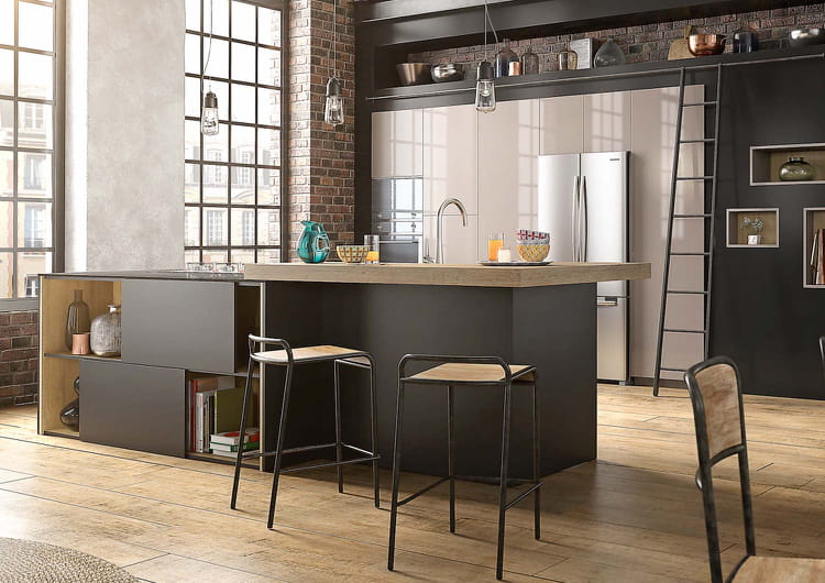 L 39 lot de cuisine en bois et noir 15 nouveaux lots for Cuisine bois et noir