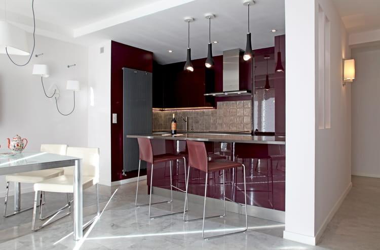 cuisine moderne aubergine