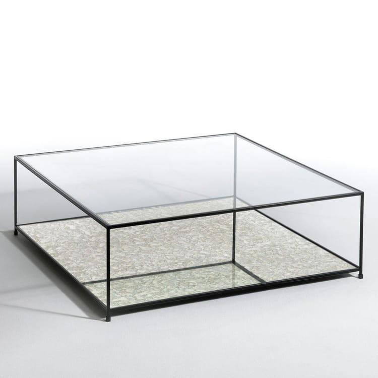une table basse transparente. Black Bedroom Furniture Sets. Home Design Ideas