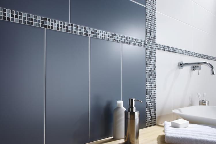 Mosa que micro square de leroy merlin quel rev tement for Mosaique murale salle de bain