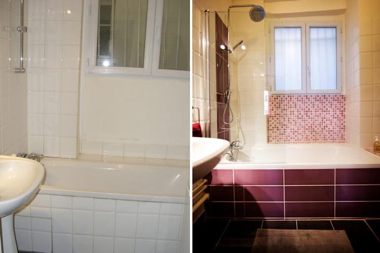 Salle de bains avant apr s - Relooking salle de bain avant apres ...