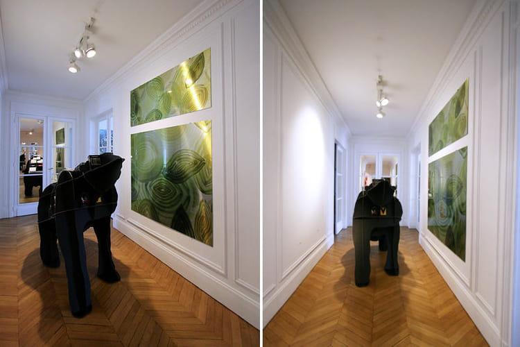 Un couloir majestueux entrez dans l 39 appart cr atif d 39 une artiste journal des femmes for Couloir appartement