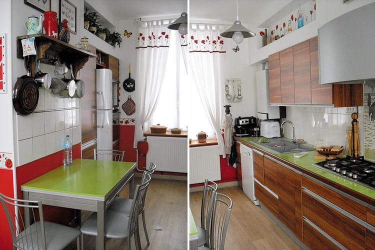 La cuisine de mireille apr s relooking int gral de - Cuisine avant apres relooking ...