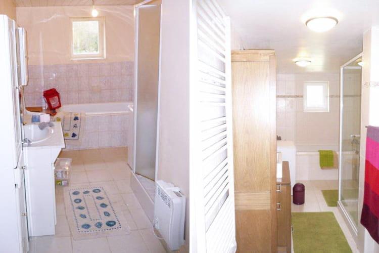 avant apr s une salle de bains relook e et zen. Black Bedroom Furniture Sets. Home Design Ideas