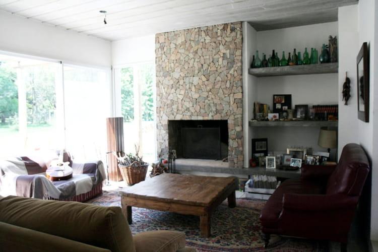 pierres et couleurs chaudes toujours plus d 39 id es pour d corer mon salon journal des femmes. Black Bedroom Furniture Sets. Home Design Ideas