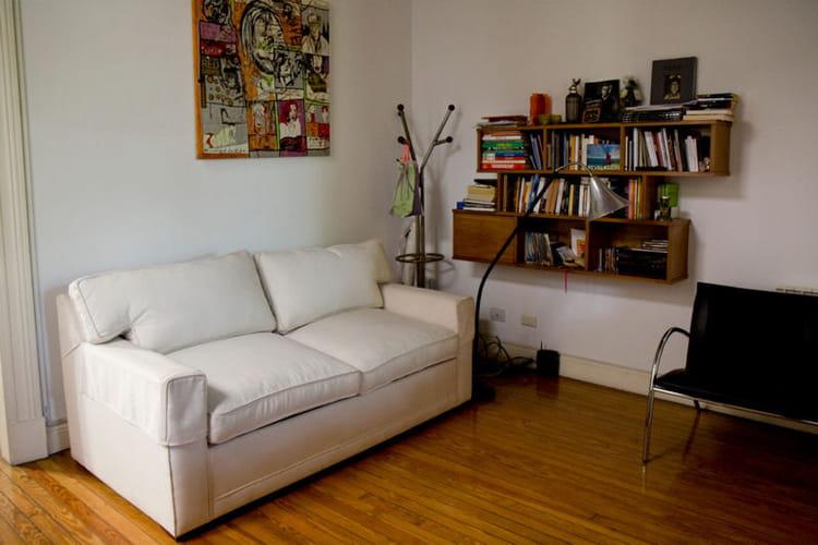 un coin lecture et d tente un appartement r nov avec toit terrasse journal des femmes. Black Bedroom Furniture Sets. Home Design Ideas