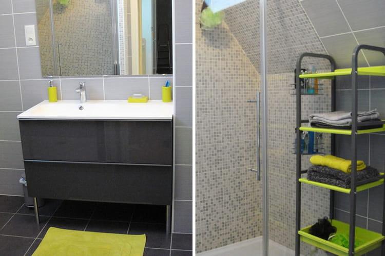 La salle de bains de val rie apr s avant apr s des for Salle de bain avant apres