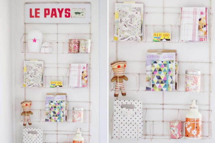 un porte cartes postales pour exposer des rangements astucieux et patants journal des femmes. Black Bedroom Furniture Sets. Home Design Ideas